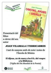 Súria 2014 03 20 Cartell presentació llibre Joan Vilamala Biblioteca (1)